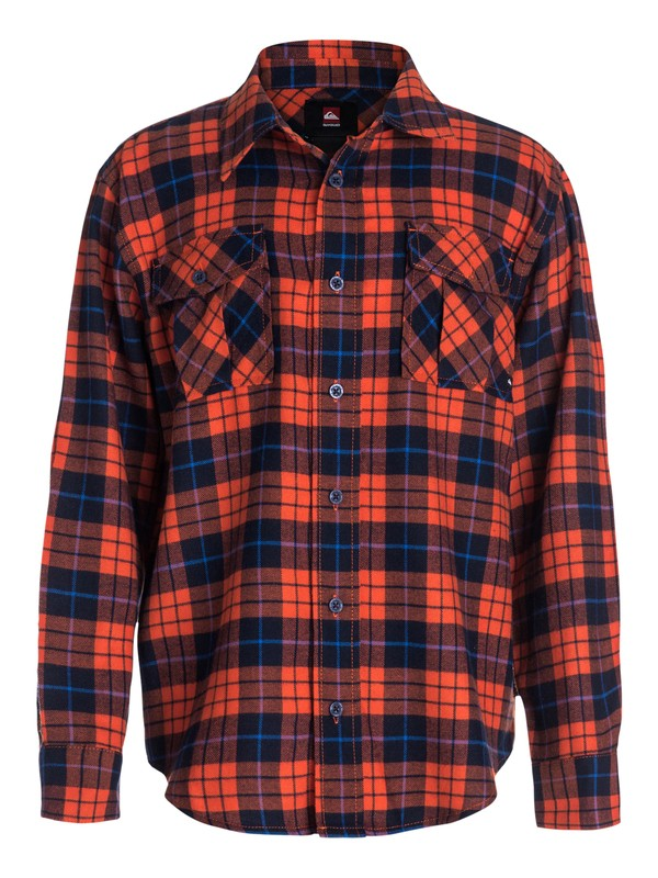 0 Boys 8-16 Flannel Plaid Long Sleeve Shirt  40464037 Quiksilver