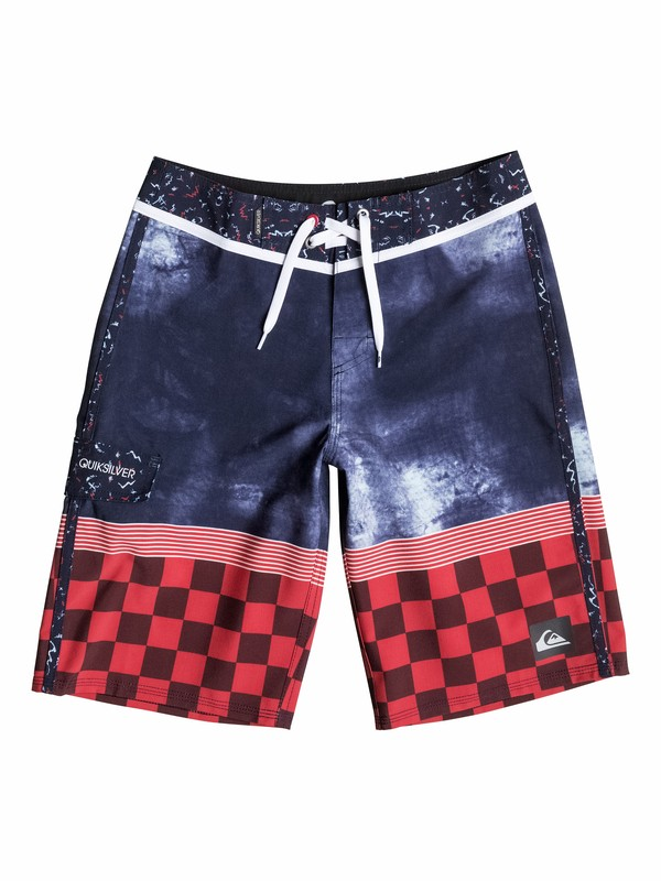 0 Boys 8-16 Check Trip Boardshorts  40565083 Quiksilver