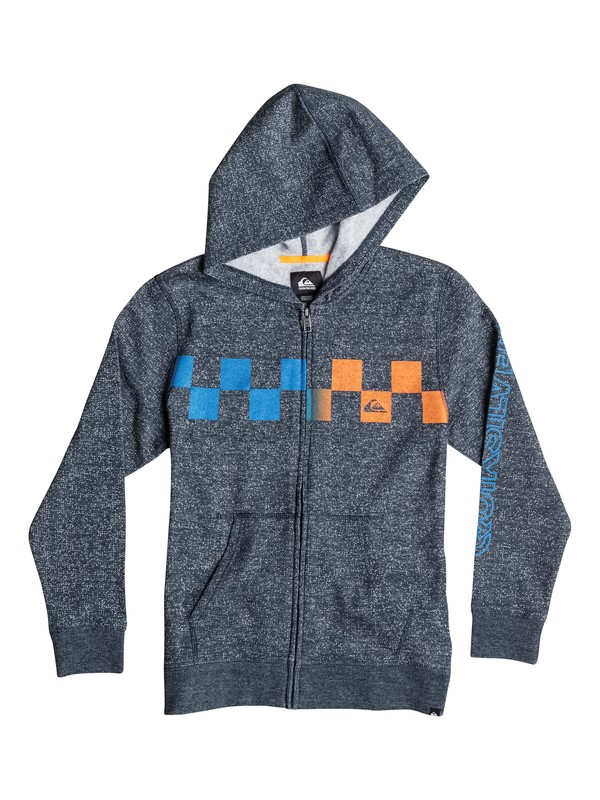 0 Boys 4-7 Checked Out Marled Zip Sweatshirt  40654040 Quiksilver