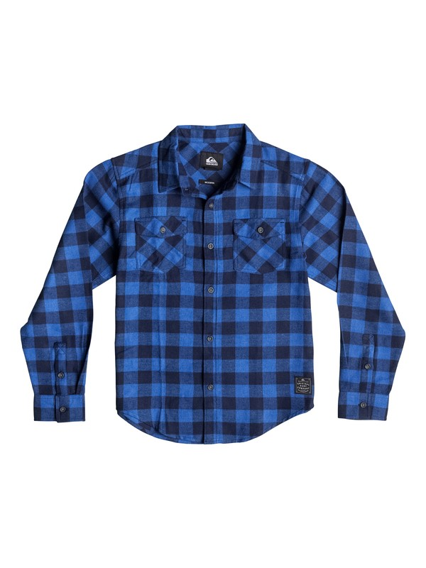 0 Boys 8-16 Motherfly Long Sleeve Flannel Shirt  40664029 Quiksilver