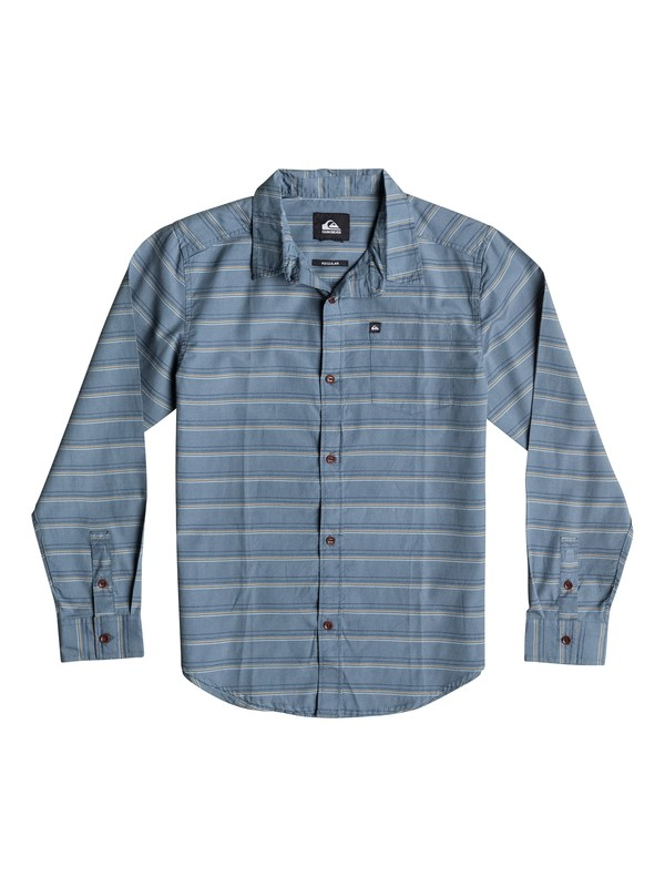 0 Boys 8-16 Fletcher Stripe Long Sleeve Shirt  40664032 Quiksilver