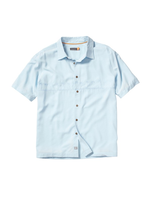 0 Men's Tahiti Palms Short Sleeve Shirt  509834 Quiksilver