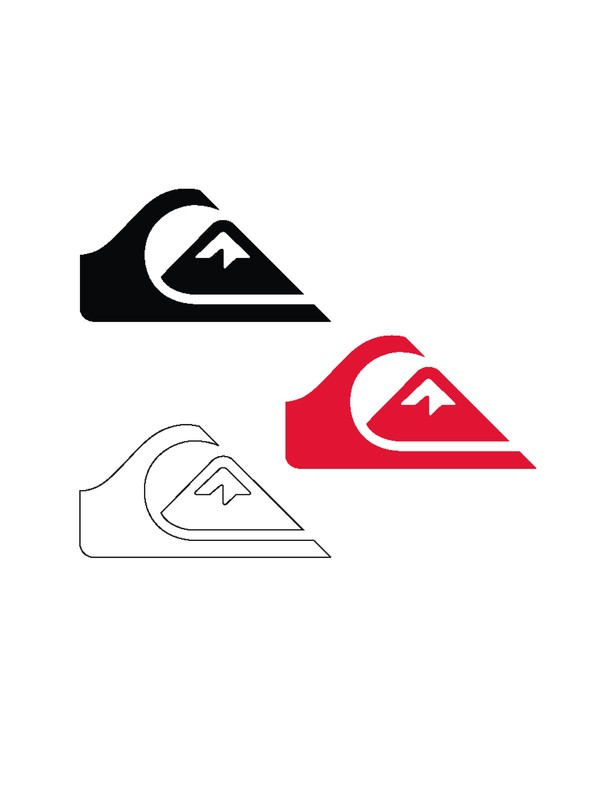 0 Mountain Wave 25 Sticker Pack  854318 Quiksilver