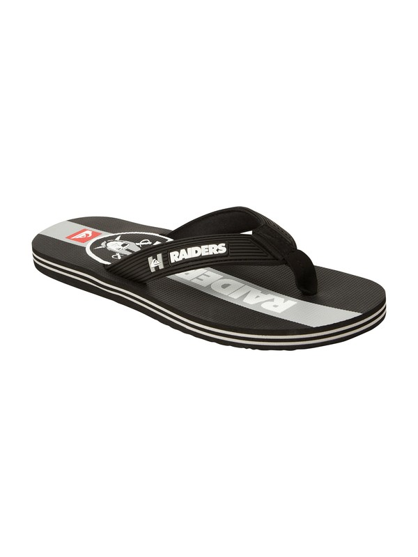 0 Oakland Raiders NFL Sandals  857440 Quiksilver