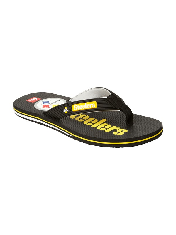 0 Pittsburgh Steelers NFL Sandals  857444 Quiksilver