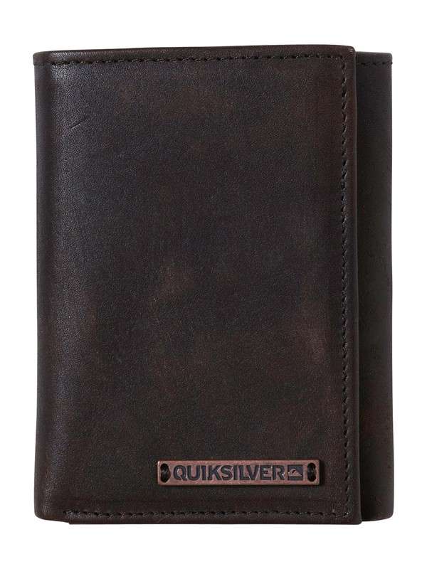 0 Basin Leather Wallet  858C45 Quiksilver