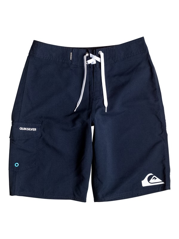 "0 Boy's 8-16 Everyday 19"" Boardshorts Blue AQBBS03064 Quiksilver"