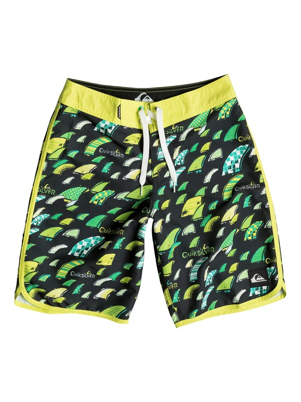 """0 Boys 8-16 Fins Party 18"""" Boardshorts  AQBBS03067 Quiksilver"""