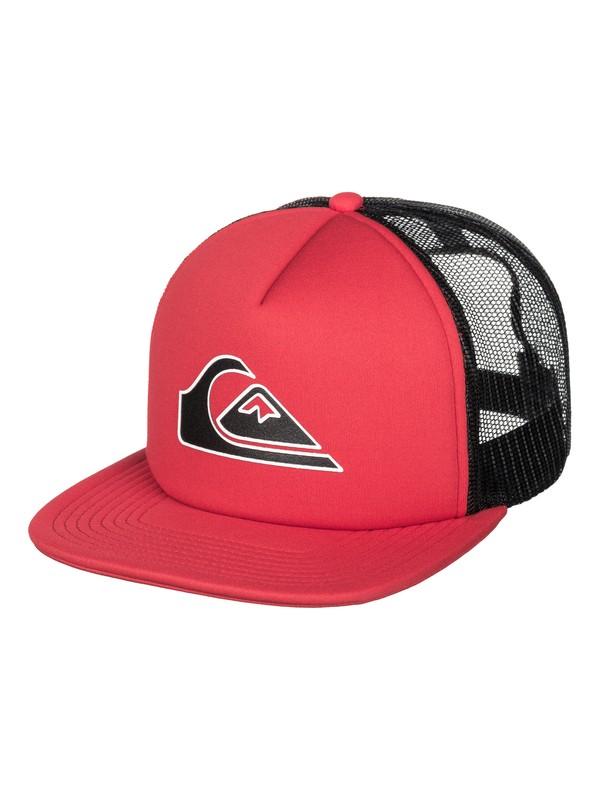 0 Boys 8-16 Snapper Trucker Hat Red AQBHA03116 Quiksilver