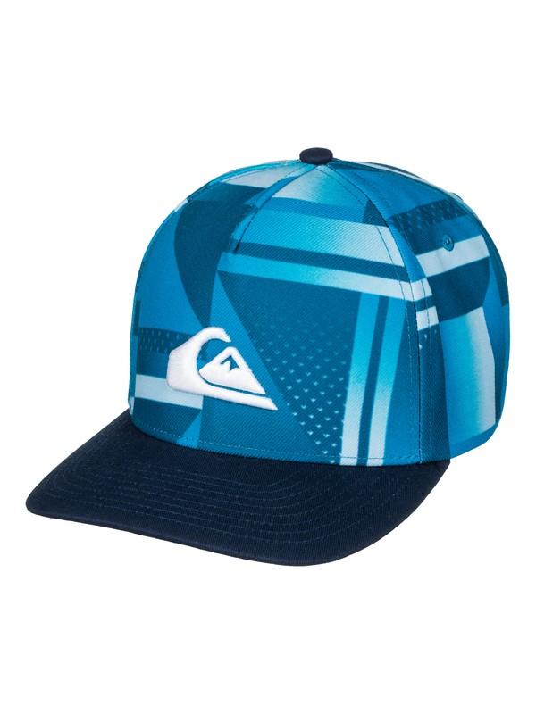 0 Fixtail - Snapback Cap Blau AQBHA03225 Quiksilver