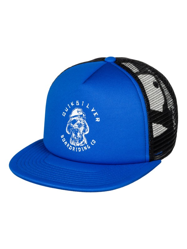 0 Boy's 8-16 Shifty Trucker Hat Blue AQBHA03249 Quiksilver