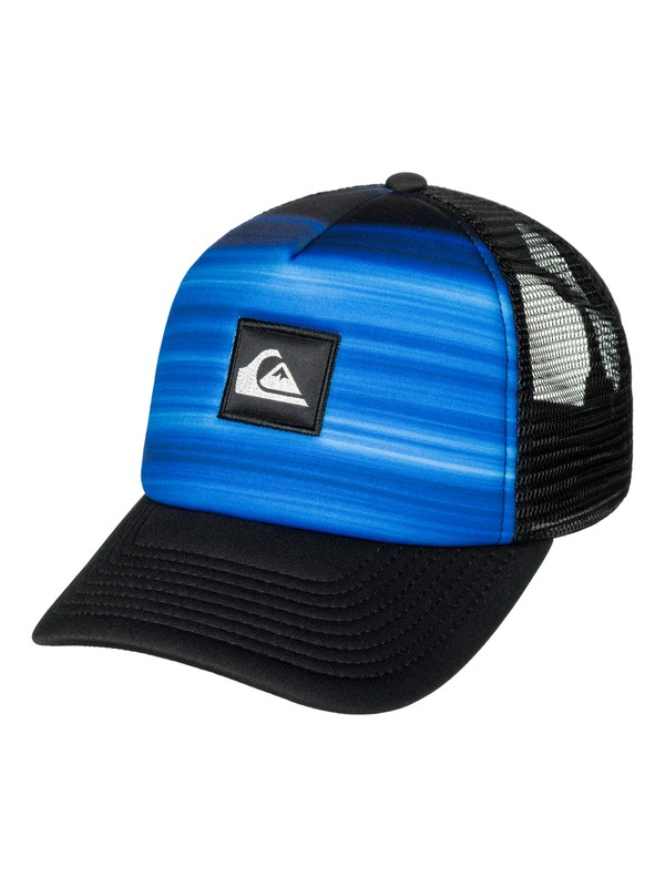 0 Boy's 8-16 Hold Down Trucker Hat Blue AQBHA03267 Quiksilver