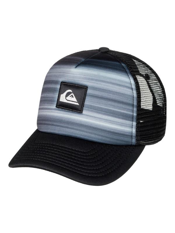 0 Boy's 8-16 Hold Down Trucker Hat Black AQBHA03267 Quiksilver