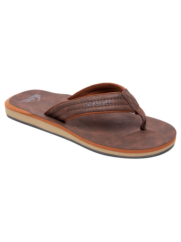 0 Carver Nubuck - Sandals Brown AQBL100020 Quiksilver