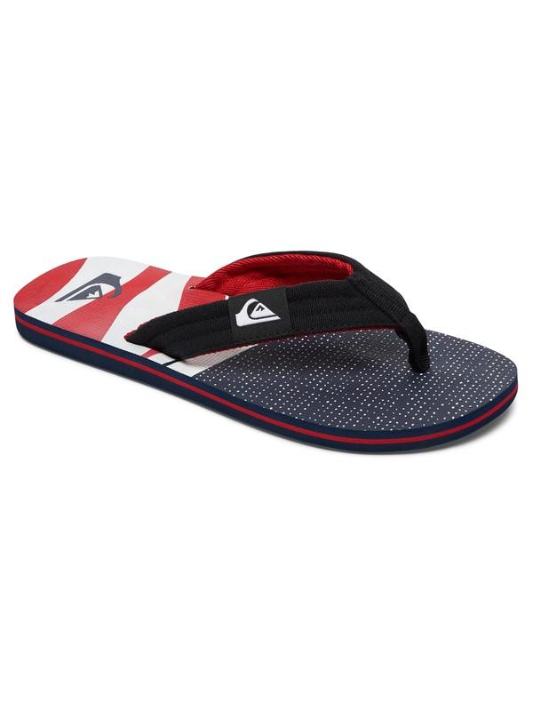 0 Boy's 8-16 Molokai Layback Sandals White AQBL100182 Quiksilver