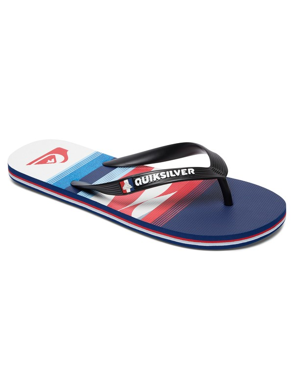 0 Boy's 8-16 Molokai Sandals Black AQBL100208 Quiksilver