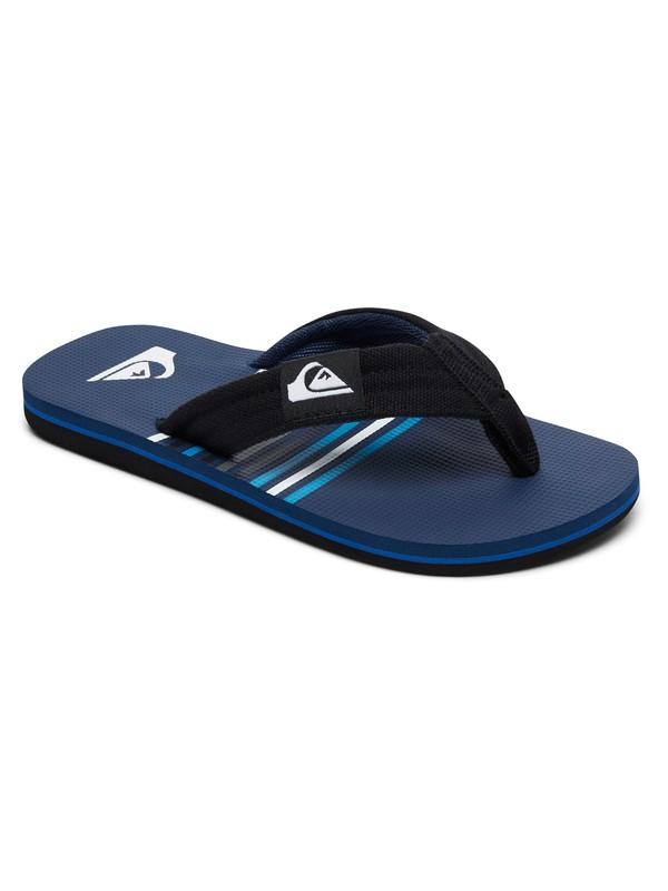 0 Boy's 8-16 Molokai Layback Sandals Black AQBL100225 Quiksilver
