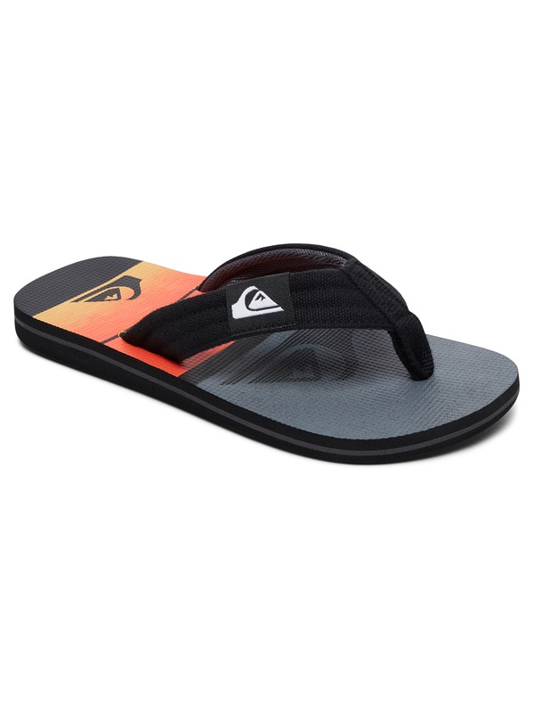 0 Boy's 8-16 Molokai Layback Sandals Black AQBL100225 Quiksilver