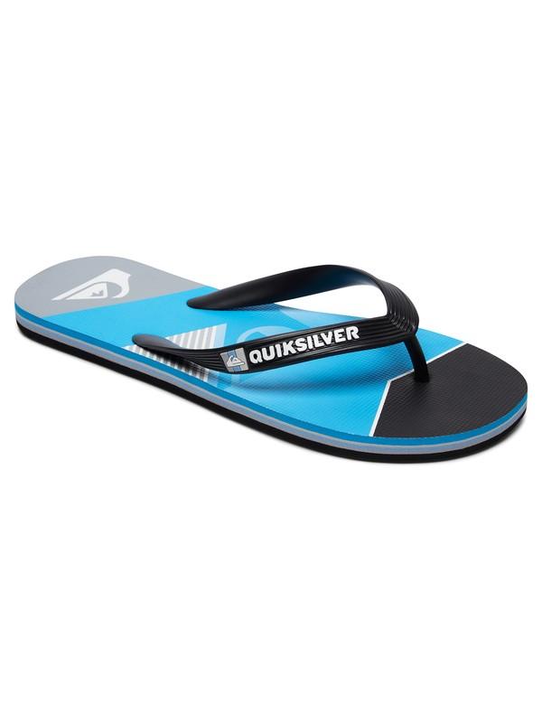 0 Molokai Slash Fade Logo - Flip-Flops Black AQBL100264 Quiksilver