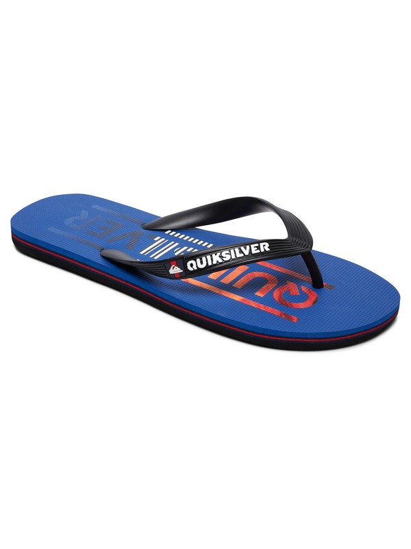 0 Molokai Wordmark - Teenslippers Black AQBL100266 Quiksilver