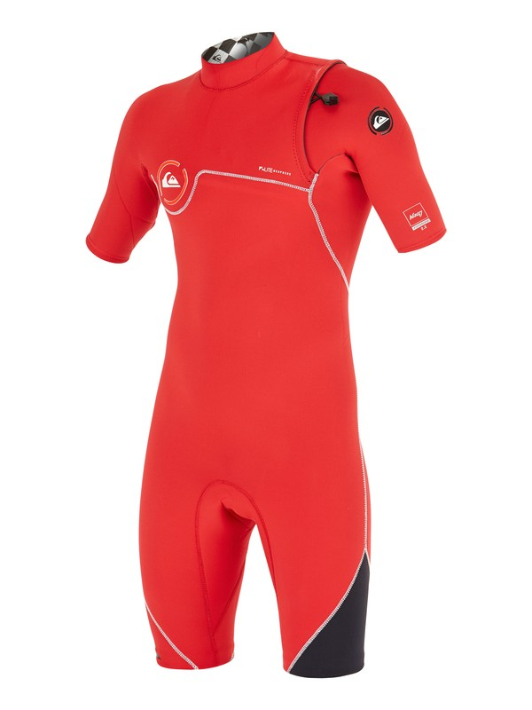 0 AG47 Zipperless 2/2mm - Springsuit manches courtes Rouge AQBW503004 Quiksilver
