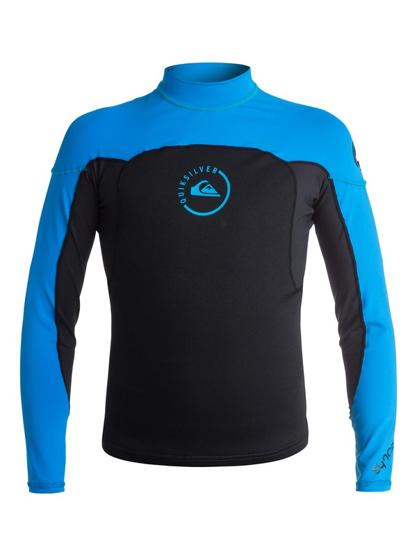 0 Syncro 1mm Long Sleeve Neosurfshirt - Top neoprene Noir AQBW803006 Quiksilver