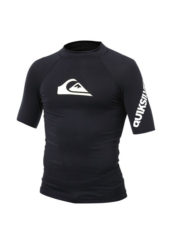 0 Boys All Time Short Sleeve Rashguard  AQBWR00000 Quiksilver