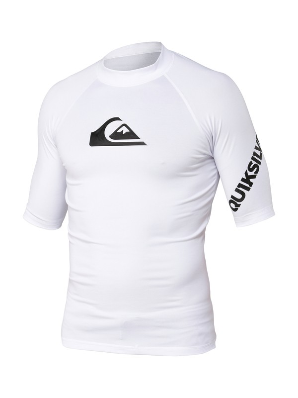 0 Boys All Time Short Sleeve Rashguard White AQBWR00040 Quiksilver