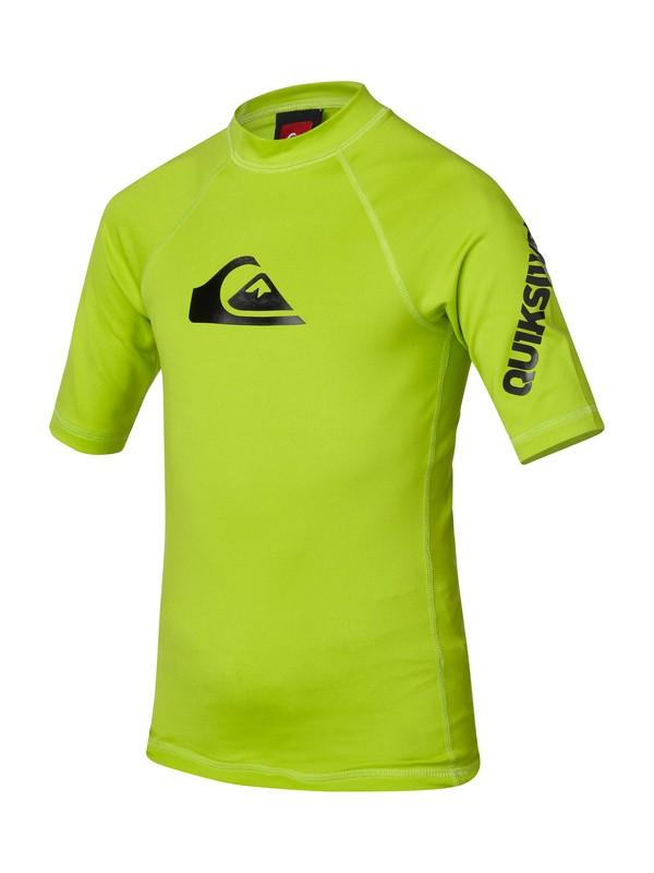 0 Boys All Time Short Sleeve Rashguard Green AQBWR00040 Quiksilver