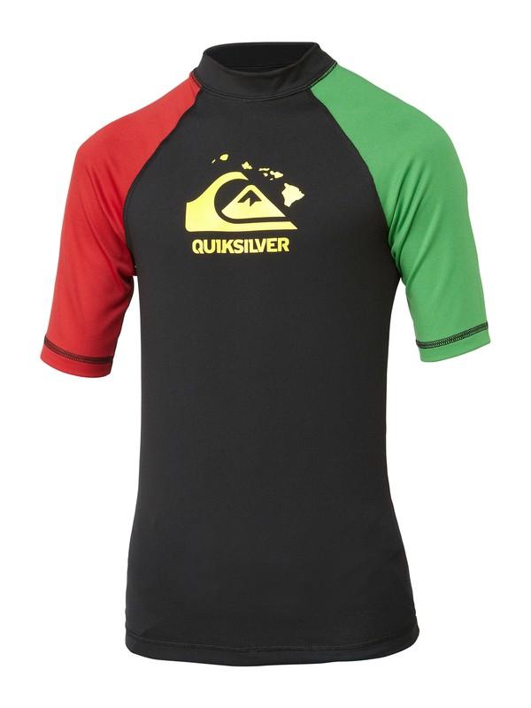 0 Boys Shaka Short Sleeve Rashguard  AQBWR00053 Quiksilver