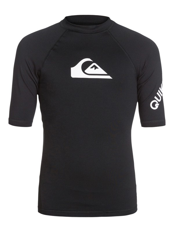 0 Boys 8-16 All Time Short Sleeve Rashguard  AQBWR03000 Quiksilver