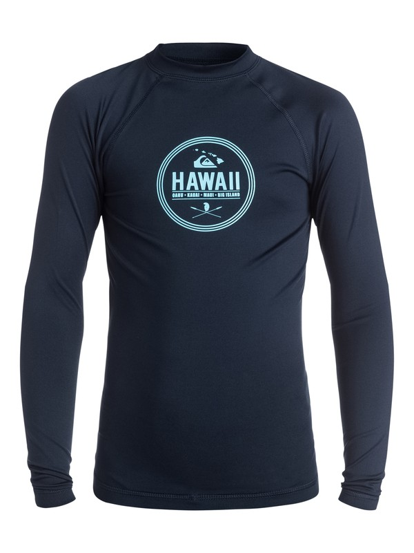 0 Island Style Long Sleeve Rash Vest  AQBWR03017 Quiksilver