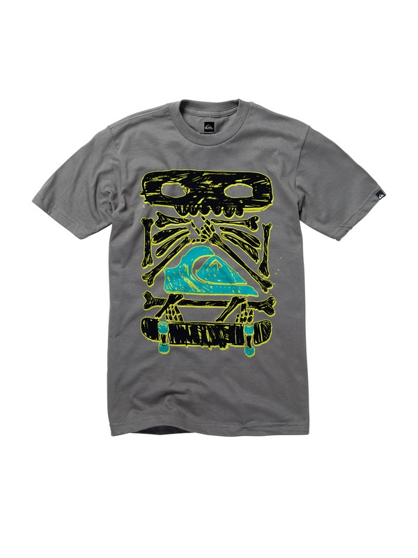 0 Boys 8-16 Primal Glow In the Dark T-Shirt  AQBZT00452 Quiksilver