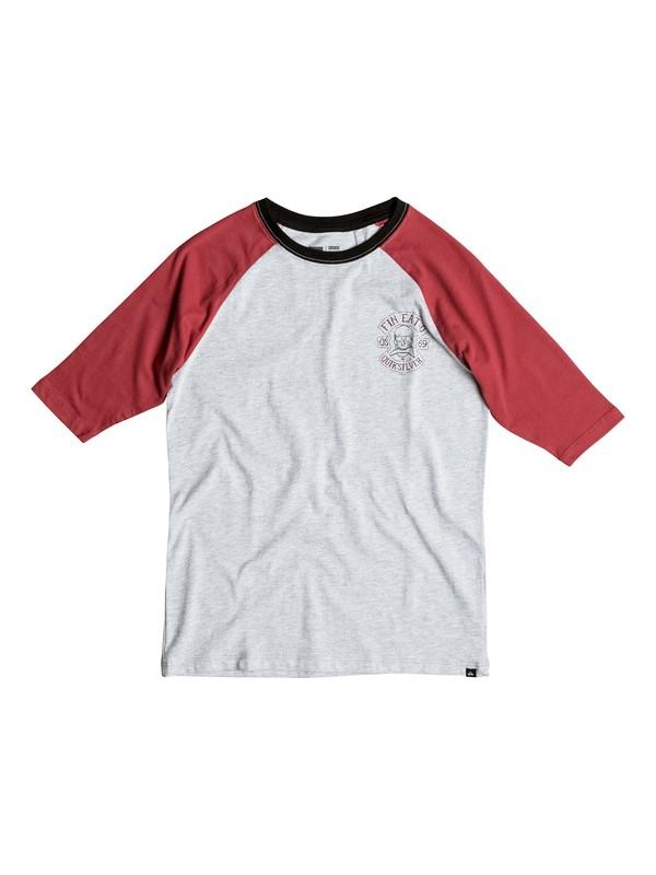 0 Boy's 8-16 Fin Eat O Raglan 3/4 Sleeve Tee  AQBZT03110 Quiksilver