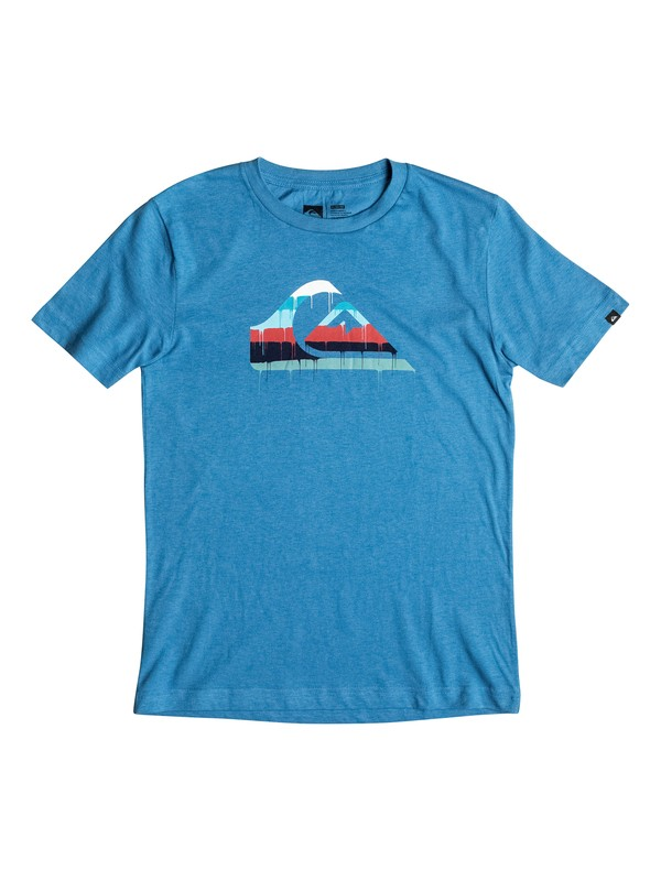 0 Boys 8-16 Quik Drip T-Shirt Blue AQBZT03123 Quiksilver