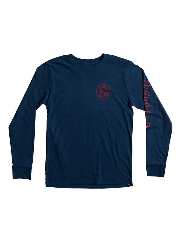 0 Boy's 8-16 Kool Shapes Long Sleeve Tee Blue AQBZT03307 Quiksilver