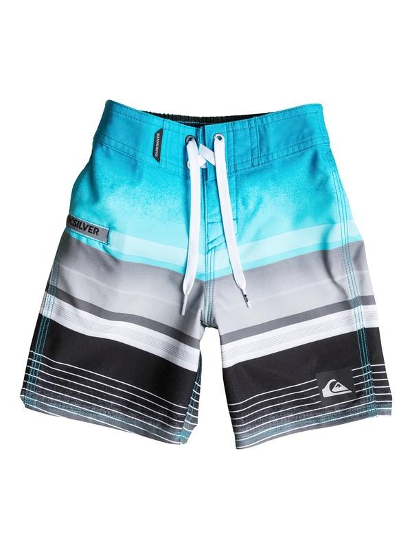 "0 Boys 4-7 Everyday Stripe 19"" Boardshorts Blue AQKBS03024 Quiksilver"