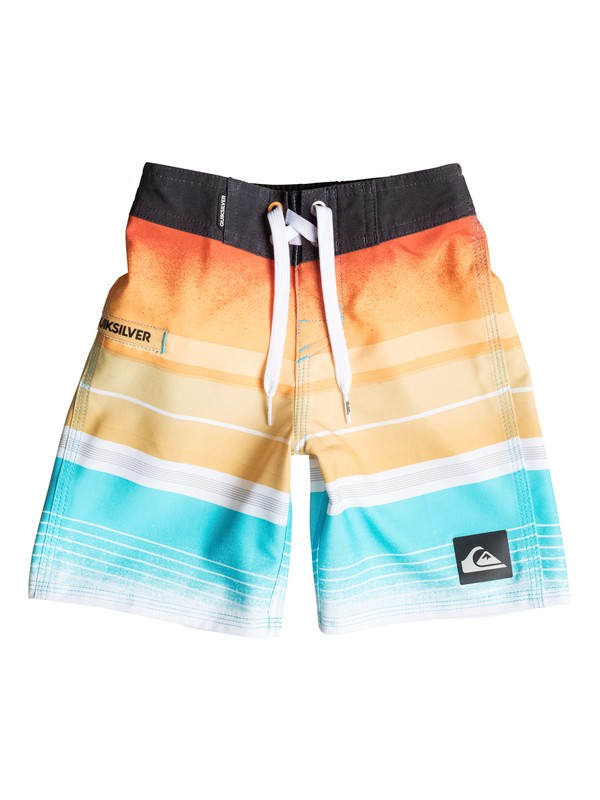"0 Boys 4-7 Everyday Stripe 19"" Boardshorts Orange AQKBS03024 Quiksilver"