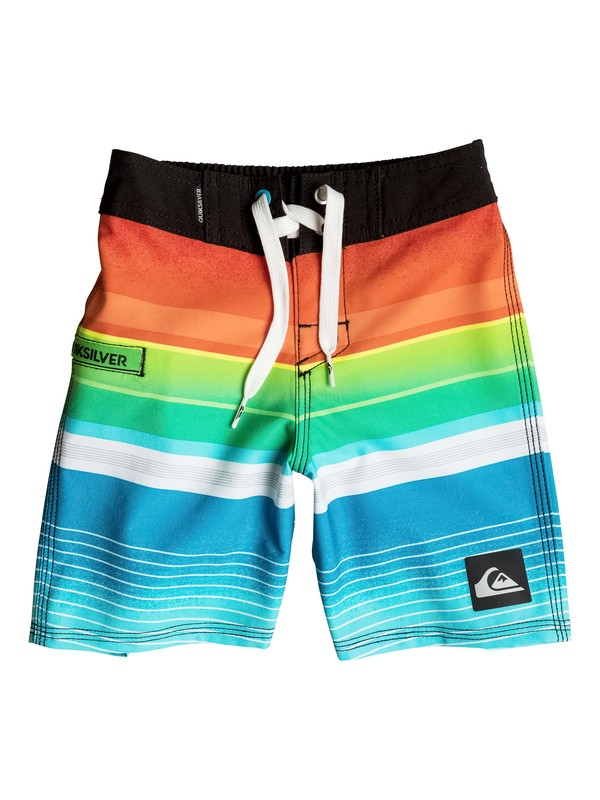 "0 Boys 2-4 Everyday Stripe 19"" Boardshorts Black AQKBS03025 Quiksilver"