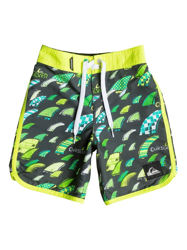 "0 Boys 2-4 Fins Party 18"" Boardshorts  AQKBS03041 Quiksilver"