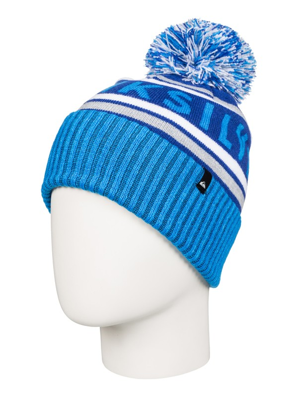 0 Spillage - Bonnet à pompon Bleu AQKHA03125 Quiksilver