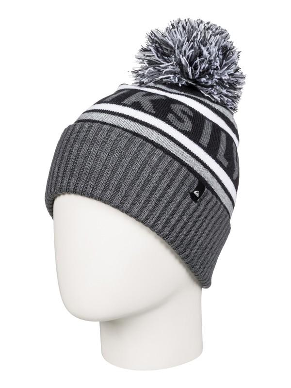 0 Spillage - Bonnet à pompon Noir AQKHA03125 Quiksilver