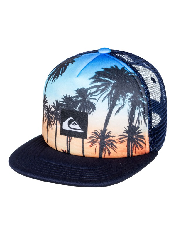 0 Mix Tape - Trucker Cap Blue AQKHA03195 Quiksilver
