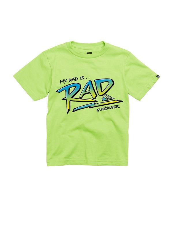 0 Boys 2-7 Dad Is Rad T-Shirt  AQKZT00247 Quiksilver
