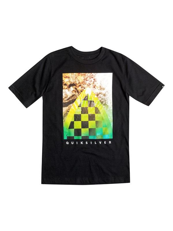0 Boys 4-7 Checker Channel Tee  AQKZT03069 Quiksilver