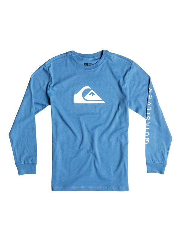 0 Boy's 2-7 Mountain & Wave Logo Long Sleeve Tee  AQKZT03129 Quiksilver
