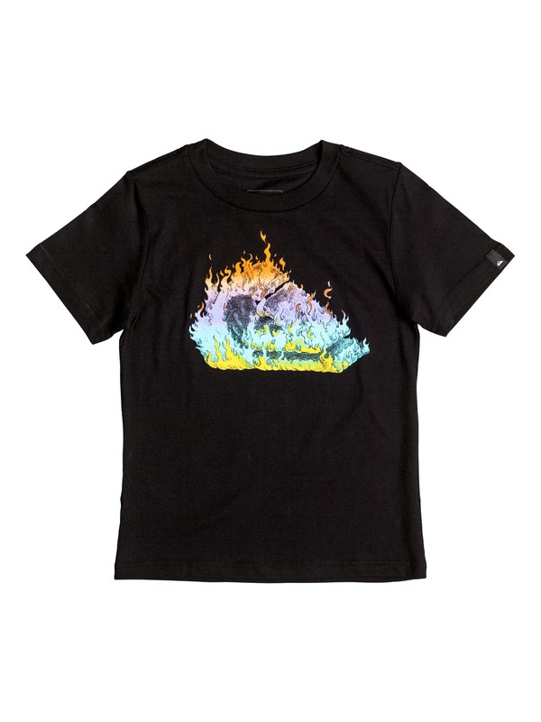 0 Boy's 2-7 In Fire Tee  AQKZT03215 Quiksilver