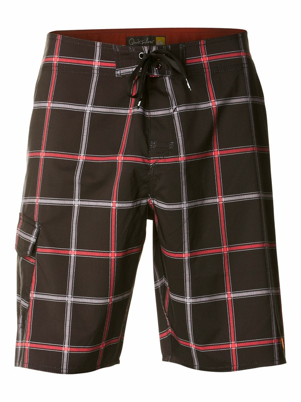 0 Men's Square Root 2-Way Stretch Diamond Dobby Boardshorts Black AQMBS00031 Quiksilver