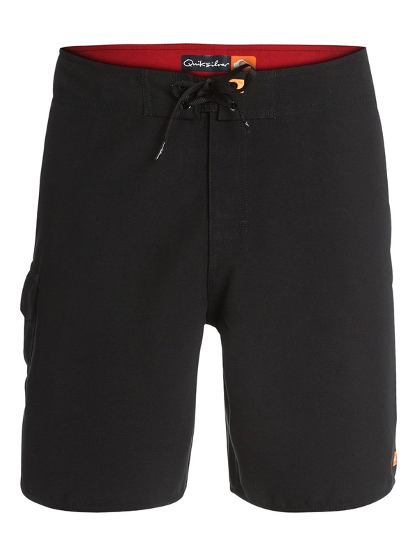 "0 Mens Rocky 18"" Boardshorts Black AQMBS03011 Quiksilver"