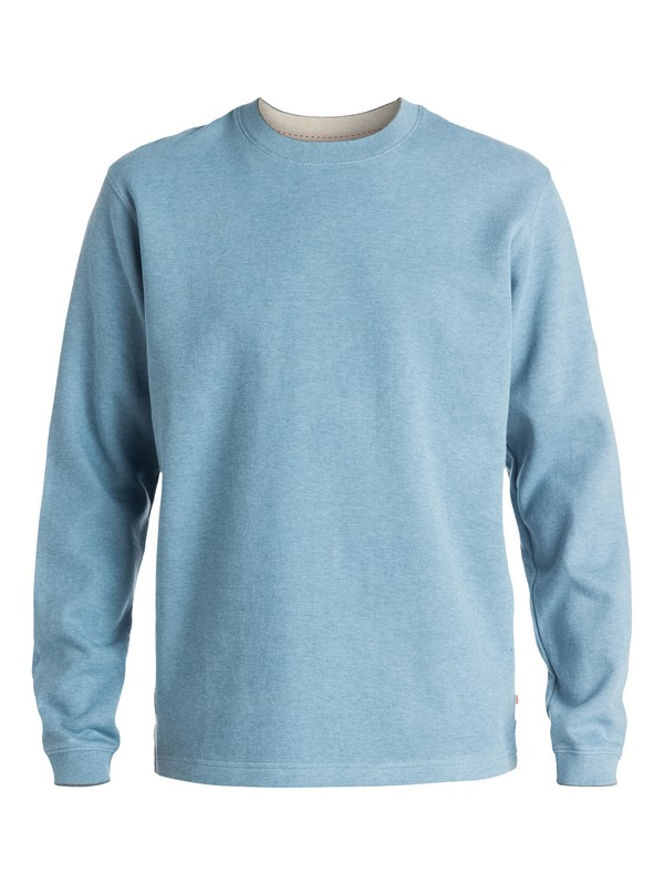 0 Men's Rock Lagoon 3 Crew-Neck  Fleece Blue AQMFT03000 Quiksilver